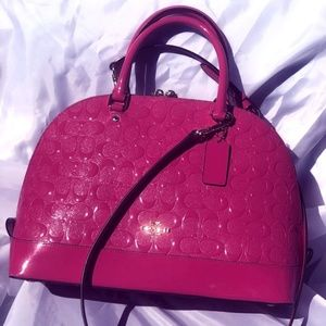 Coach Pink Purse - GREAT SHAPE!